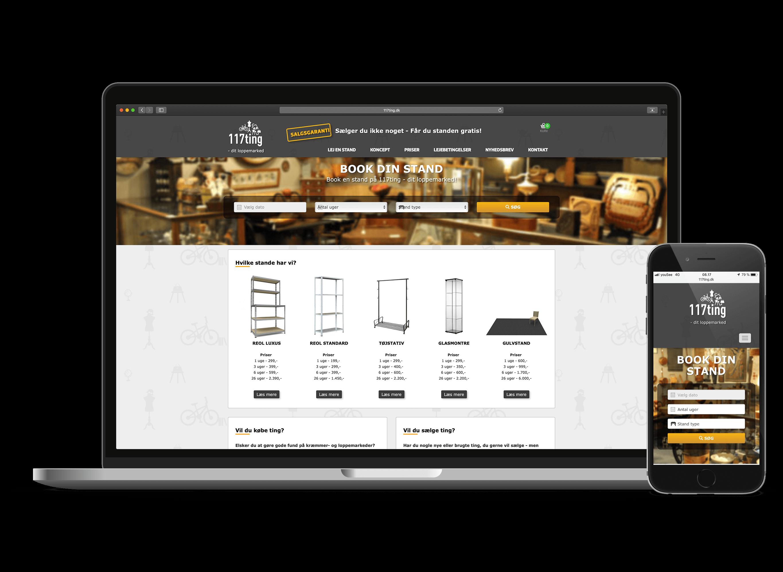117 Ting Bookingsystem og Hjemmeside Case SideWalk