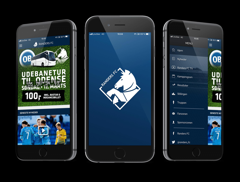 Randers FC app-SideWalk-Koncepter