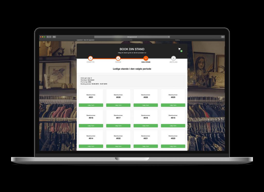 SideWalk Loppestand Bookingsystem