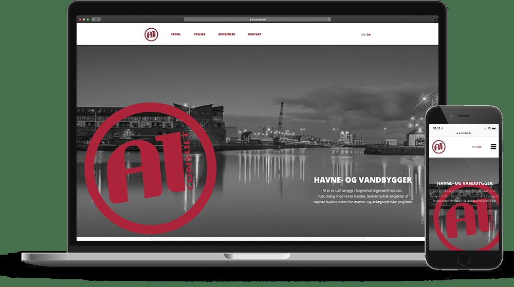 A1 Consult Hjemmeside Case SideWalk