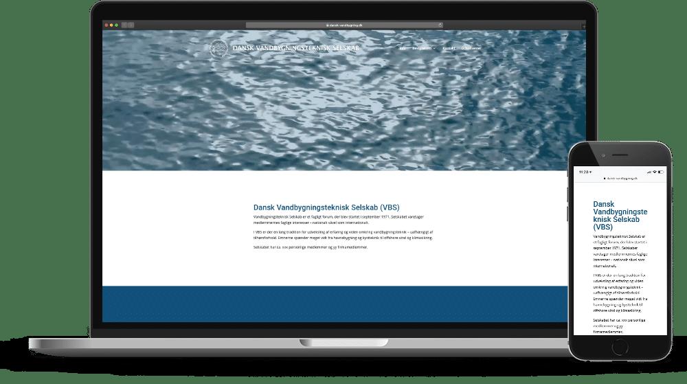 Dansk Vandbygningsteknisk Selskab Hjemmeside Case SideWalk