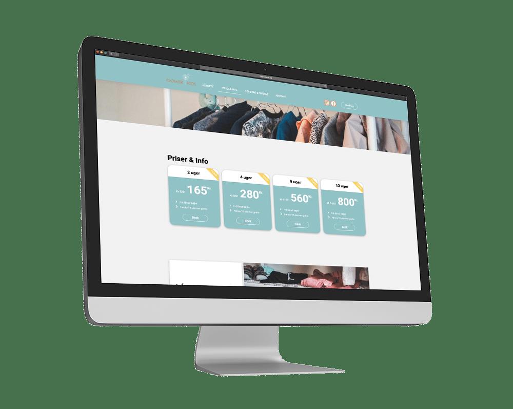 Flower Kids Hjemmeside og SideWalk Loppestand Case