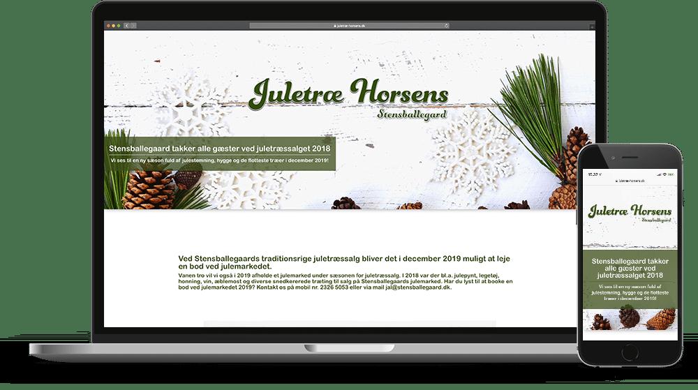 Juletræ Horsens Stensballegaard Hjemmeside Case SideWalk