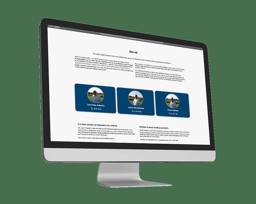 Jysk-El Hjemmeside Case SideWalk