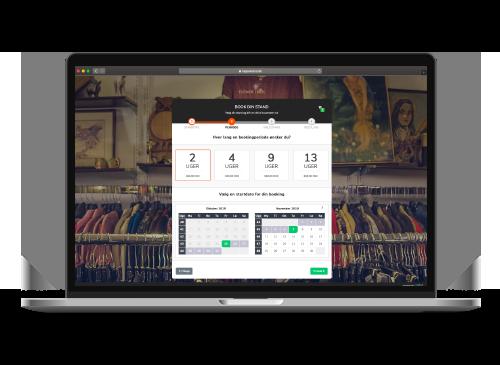 Loppestand Bookingsystem SideWalk