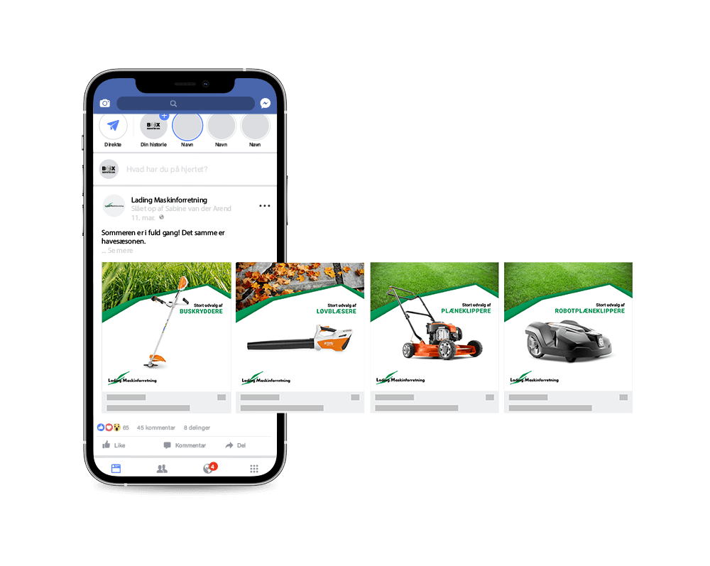 SideWalk Facebook annonce eksempel Lading 2