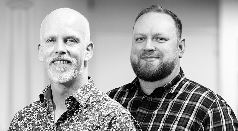 Medarbejder, Morten Carlsen, tekstforfatter og Dinny Eriksen, Head of SEO