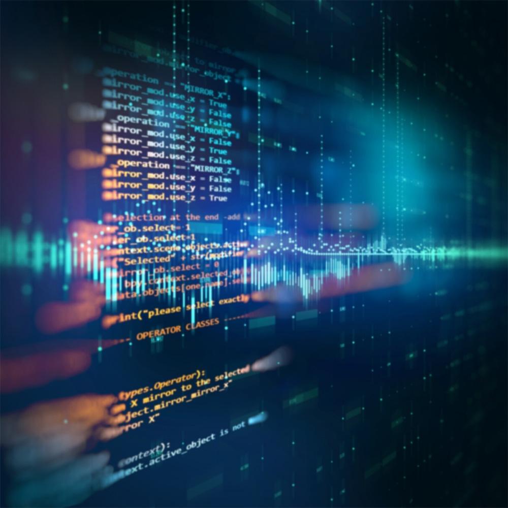 Computer kode på skærm tæt på